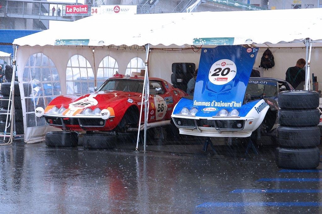 Le Mans Classic 2012 - Stands Pluie