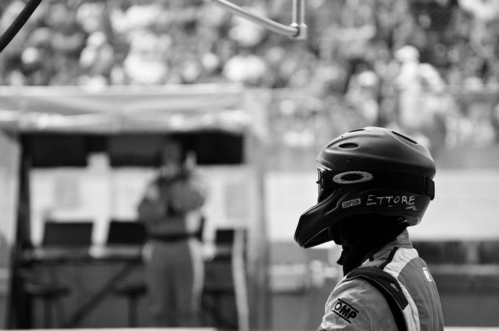 24 heures du Mans 2014 - AF Corse - Concentration arrêt aux stands
